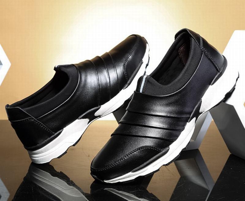 Hombres Venta De Black Split Antideslizante Super Plataforma Caliente Mocasines blue Casual red Zapatos Cuero Hombre Moda Primavera Otoño rqzwrRnB