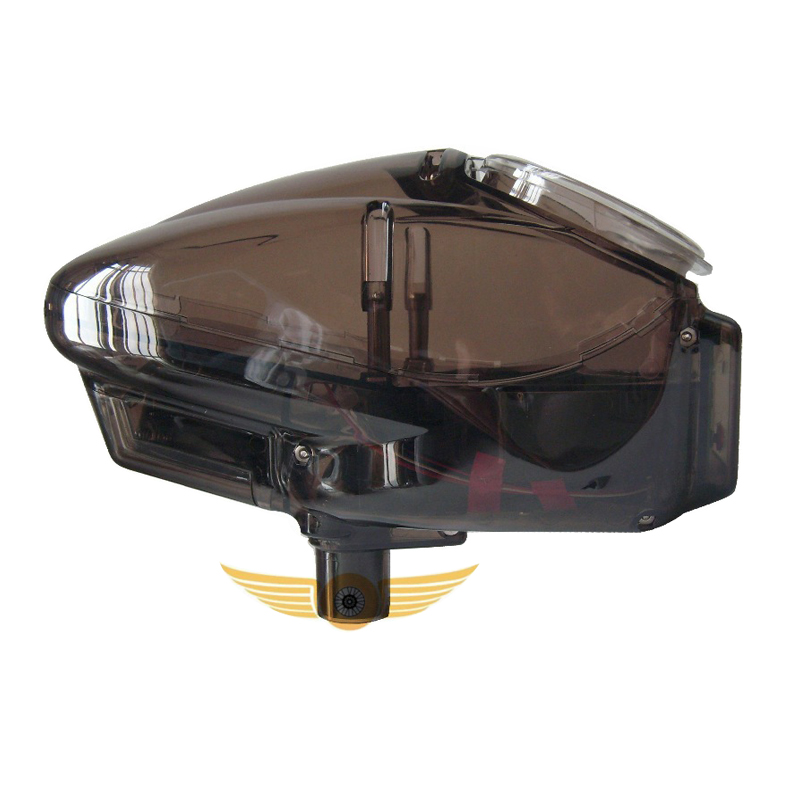 0.68 Paintball Electronic Speed Loader Automatic Motorized Wheel Loader 180 Rounds Capacity Transparent Brown