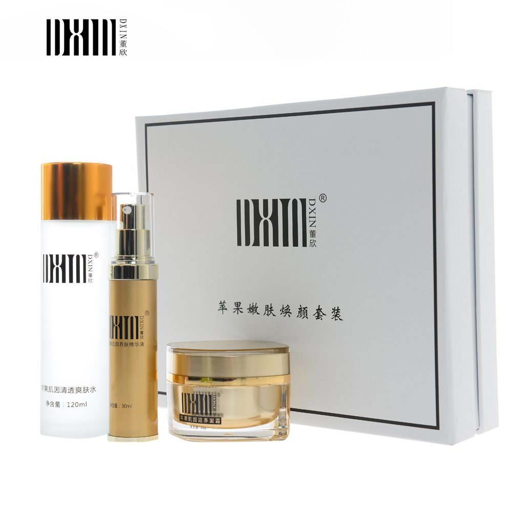 DXIN Moisturizing Firming Skin Care Set Toner Essence Face Cream Anti Sensitive Anti-Aging Shrink Pores Beauty Cosmetics apple stem cell stoste brightening anti wrinkle anti aging reduce fine lines firming lift moisturizing shrink pores 1000ml