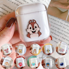 Cartoon transparent Mickey Minnie For airpods case Bluetooth wireless headset set 1/2 cute hard shell charging