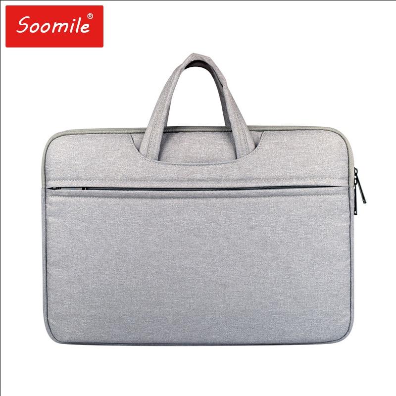 Soomile New Laptop Bag 12 - 15.6  Inch Men Women Briefcase Handbag Multi-function Anti Water Splashing Notebook Computer Bags