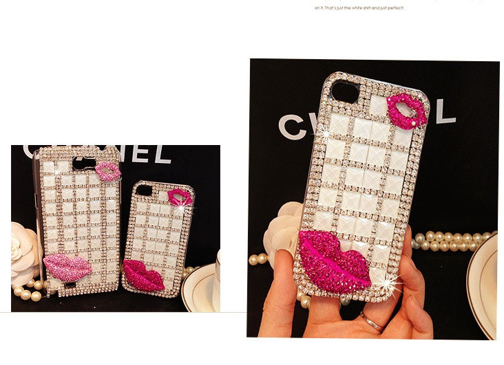 For Huawei P7 case rhinestone mobile phone cases Transparent case protective cover colorful glossy case 14