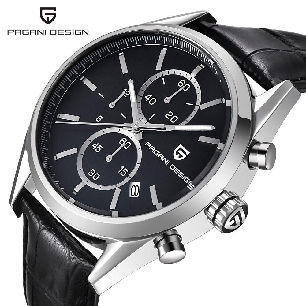 ФОТО PAGANI DESIGN Brand Men Sport Watch Male Stainless Steel Waterproof Quartz Chronograph Wrist Watch Military Watch Men Clock