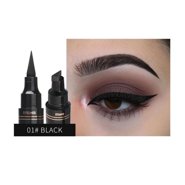 1Pc Liquid Eyeliner Stamp Pen Matte Black Colorful Lazy Eyes Make Up Waterproof Quick Dry Blue Green Red Yellow Eye Liner Pencil 3