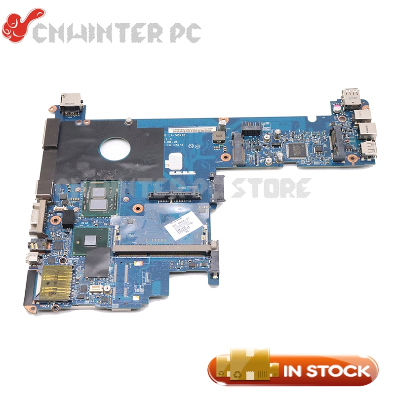 NOKOTION For HP Elitebook 2540P Laptop Motherboard <font><b>I7</b></font>-<font><b>620M</b></font> CPU DDR3 598765-001 KAT10 LA-5251P MAIN BOARD image