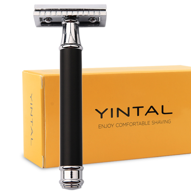 Classic Safety Razor For Men Manual Blade Replaceable Shaver Brass Blank Handle Razors For Shaving Men