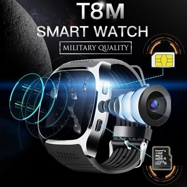 Marca New Esporte Relógio Inteligente Pedômetro Smartwatch Inteligente Bluetooth Para Telefone Android Relógio De Pulso SIM Suporte TF Cartão de Chamada