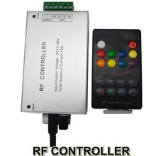 18 Key RGB Led Music Controller DC12V 24V Audio Sound 3 Channel*4A 12A RF 433.92mhz Wireless Remote to Control Strip Light