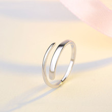 simple 100% pure sterling silver 925 rhodium plated line ring for unisex,s925 mens rings,kids jewelry