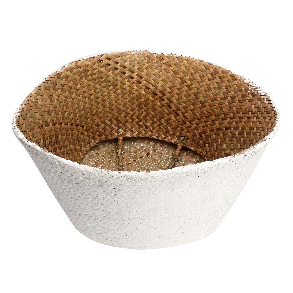 Seagrass Belly Storage Basket Straw Basket Write Wicker basket ...
