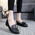 New 2016 Woman Shoes Leather Fashion Bowtie Casual Shoes Women Loafers Pointed Toe Flat Shoes Breathable Cow Muscle Women Shoes