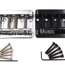 Top-Load-Saddle Bass-Guitar-Bridge 4-String Electric Chrome/black for Wholesales Niko