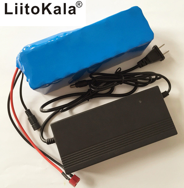 Liitokala 36V 6ah 500W 18650 lithium battery 36V 8AH electric bicycle with PVC box for electricity bicycle 42V 2A charger полка стеклянная 52 см grampus laguna gr 7803