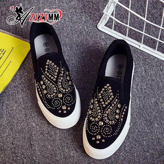 2017 Новые Ботинки Холстины Женщин Причинно-Следственной Обувь Удобные Толстым Дном Скольжения на Ботинок квартир AG11