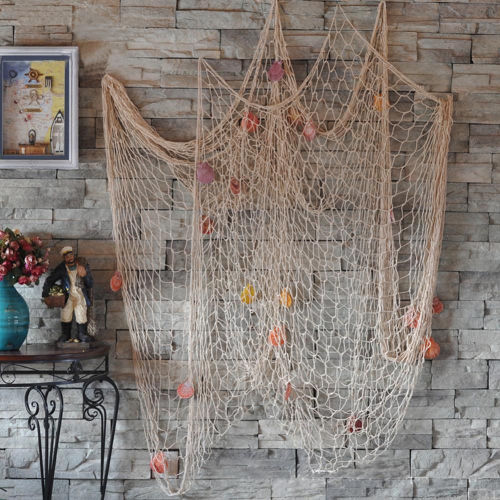Морской рыболовная сеть Приморский стены пляж вечерние морских раковин дома садовый декор дома Decoraiton