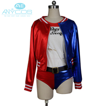 Batman Joker Comics Suicide Squad Harley Quinn Uniform Coat Jacket Shorts T Shirt Halloween Cosplay Costumes For Women Custom