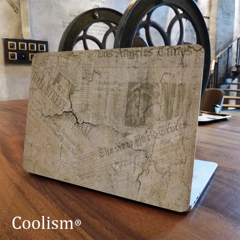 Vintage Newspaper Laptop Full Cover Skin for Macbook Pro Air Retina 11 12 13 15 inch Mac Dell Protective Notebook Decal Sticker