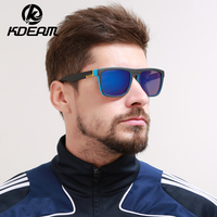 KDEAM Good Quality Polarized Sunglasses Men Square Sport Sun Glasses Polaroid Lens Women Brand Designer 6