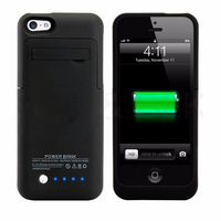 Hot Sale 2200mAh Power Case External Backup Battery Charger For IPhone 5 5S 5C SE Freeshipping