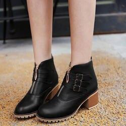 Женские ботинки martin, модные элегантные ботинки из искусственной кожи, черные осенне-зимние короткие плюшевые ботинки, botines mujer NB216