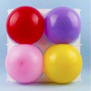 Image 5 - 20 adet/grup Balon duvar ızgaraları lateks balon modelleme aksesuarları plastik 4 & 9 delik balon ızgara doğum günü düğün parti dekor