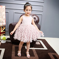 Children Summer Clothing Fancy Ruffle Pink and White Baby Girl Summer 2017 Tutu Dress
