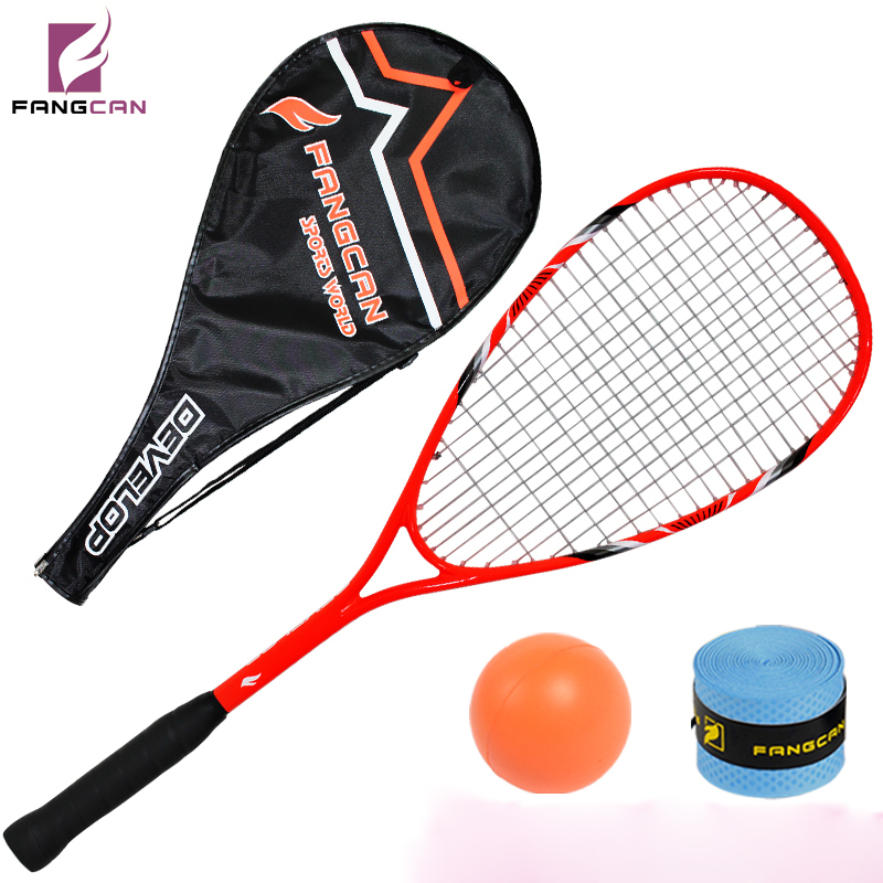 (2pcs/lot) FANGCAN professional squash racquets, orange, composited with string done and cover squash rackets a squash and a squeeze
