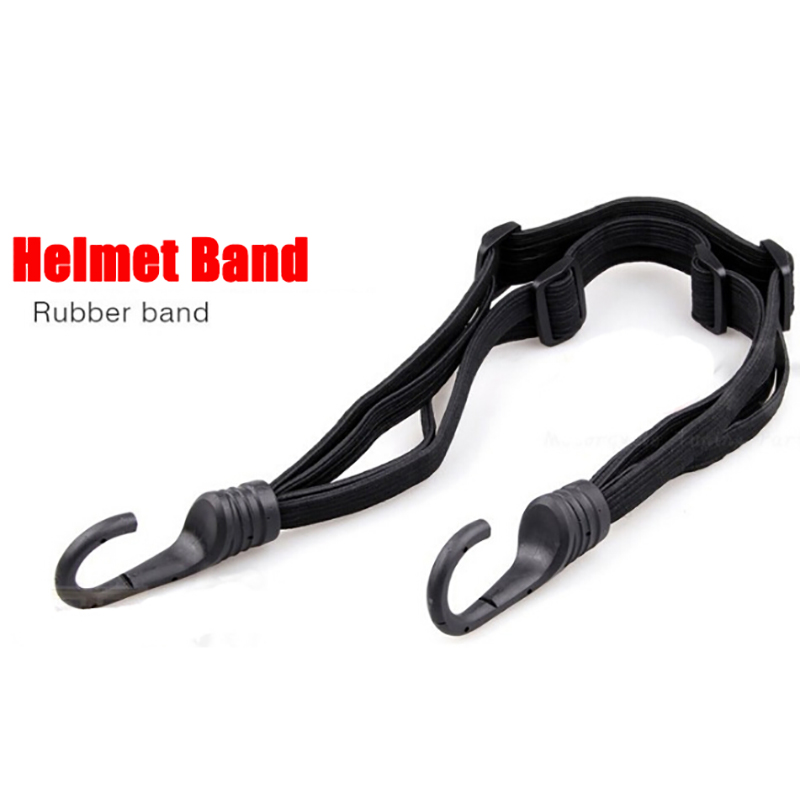 Cross-country Car Motorcross Accessories Pedal Motorcycle Helmet Band Luggage fixed rope elastic Helmet Hook Net Rope