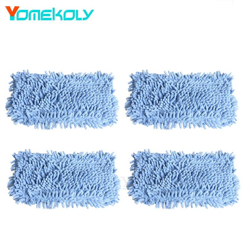 4pcs Microfibre Steam Mop Pads for Black & Decker FSM1500 FSM1600 FSM1610 Vacuum Cleaner Washable Replacement Floor Mop Cloths free post ship new 6 qty for h20 5x clean mop washable velcro microfibre steam mop floor pads