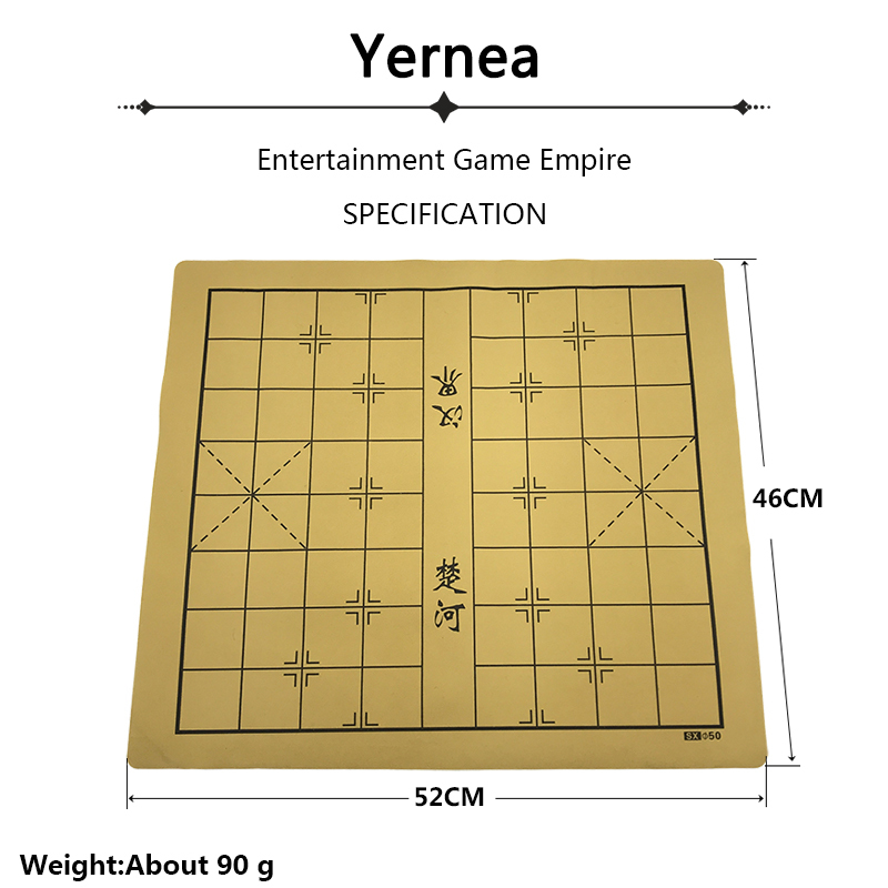 Yernea High-quality Chinese Chessboard Traditional Chinese Chess Board Game Set Soft Suede Leather One Side Checkerboard