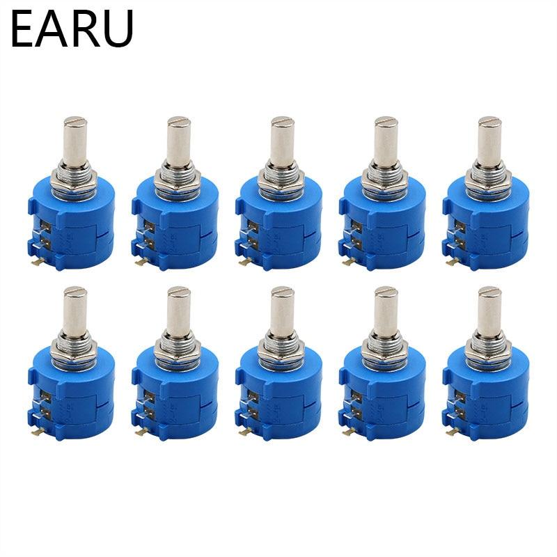 10pcs 3590S-2-103L 10K Precision Multi-turn Potentiometer (10 Turns) Adjustable Resistance