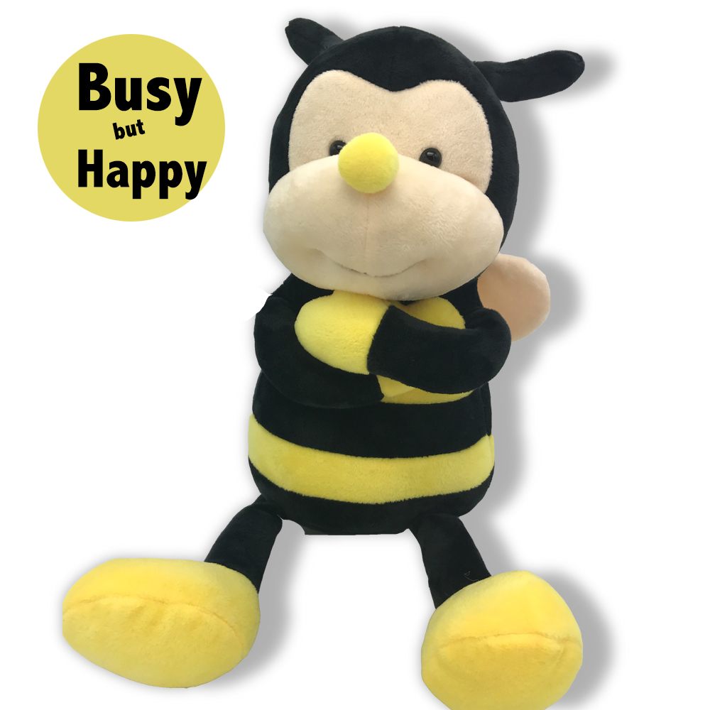 Plush Nana The Bee With Smile Face And Yellow Wings Bumblebee Garden