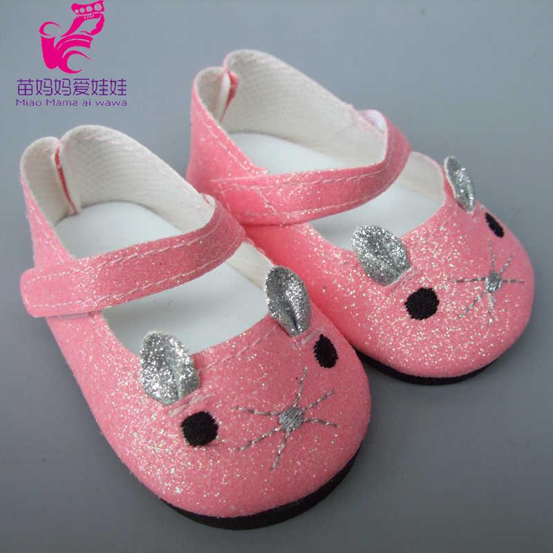 Zomer schoenen voor 18 inch meisje Pop Jean 7 cm Pop Schoenen voor 45 cm Reborn Baby Pop Kwastje zomer sandalen schoenen