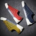 Nueva Llegada 2016 de la Alta Calidad de Los Hombres Pisos Zapatos de Moda Transpirable Hombres Zapatos de Lona Ocasionales Zapatos Hombre zapatos Para Hombre de Pisos