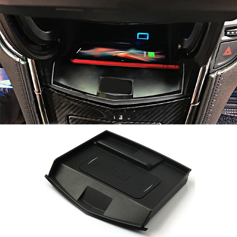 10w car QI wireless charger wireless mobile phone charger fast charging plate accessories for Cadillac ATS XTS SRX for iPhone 8