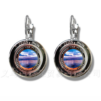 Dslr Lenses Art Picture Earrings Keep That Moment Forever Camera Lens Silver Plated Stud Earrings For Women Best Gift image