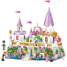цены 731pcs Princes Windsor Castle Friends Girls DIY Model Building Blocks For Children Sets Toys Compatible with Friends