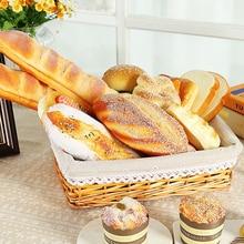 Свадебная вечеринка искусственный хлеб пончики имитация модели украшения поддельный торт булочная комната фотографии реквизит украшение окна
