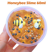 Educational Toys Polymer Clay Beautiful Honeybee Mixing Cloud Slime Putty Scented Stress Kids Clay Toy 60ml Anti-stress Toys(China)