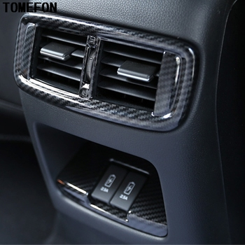 TOMEFON For Honda CRV CR-V 2017 2018 ABS Carbon Fiber or Chrome Matte Rear Air AC Vent Outlet Cover Frame Inerior Accessories