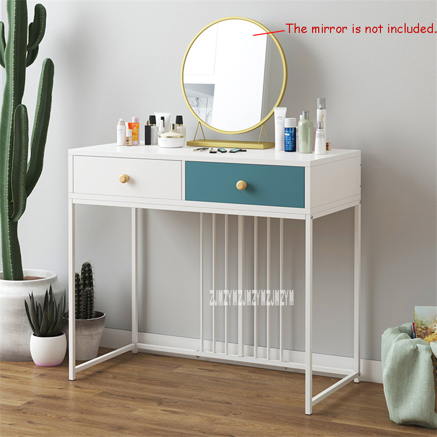 US $41.76 13% OFF|B2531/B2532 Creative Makeup Table With Drawer Bedroom  Furniture Manmade Board steel frame Dresser Modern Simple Dressing Table-in  ...
