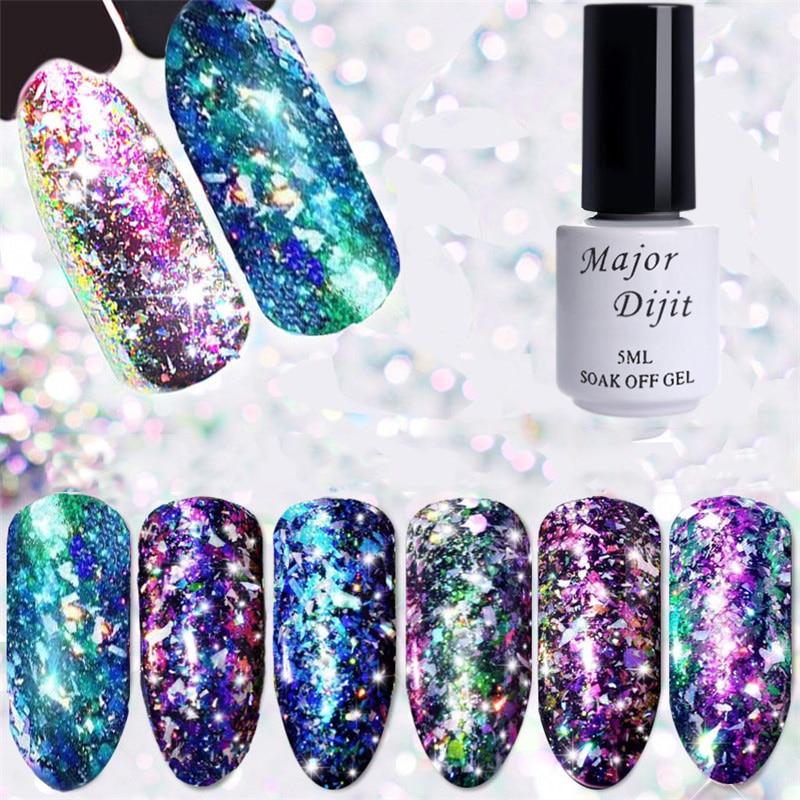 5ML Color-changing Chameleon Nail Polish Brocade Series Nail Glitter Sequins Polish Varnish Lacquer Nail Art Decorations