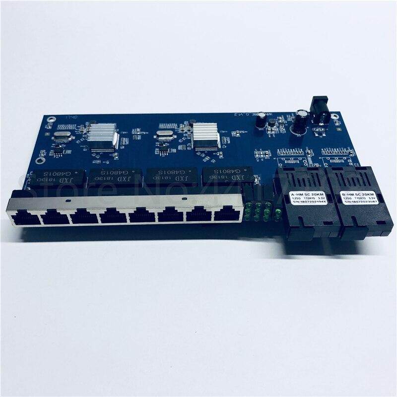 Image 3 - 10/100/1000M Gigabit Ethernet switch Ethernet Fiber Optical Media  Converter Single Mode 8 RJ45 UTP and 2 SC fiber Port Board PCB-in Fiber  Optic Equipments from Cellphones