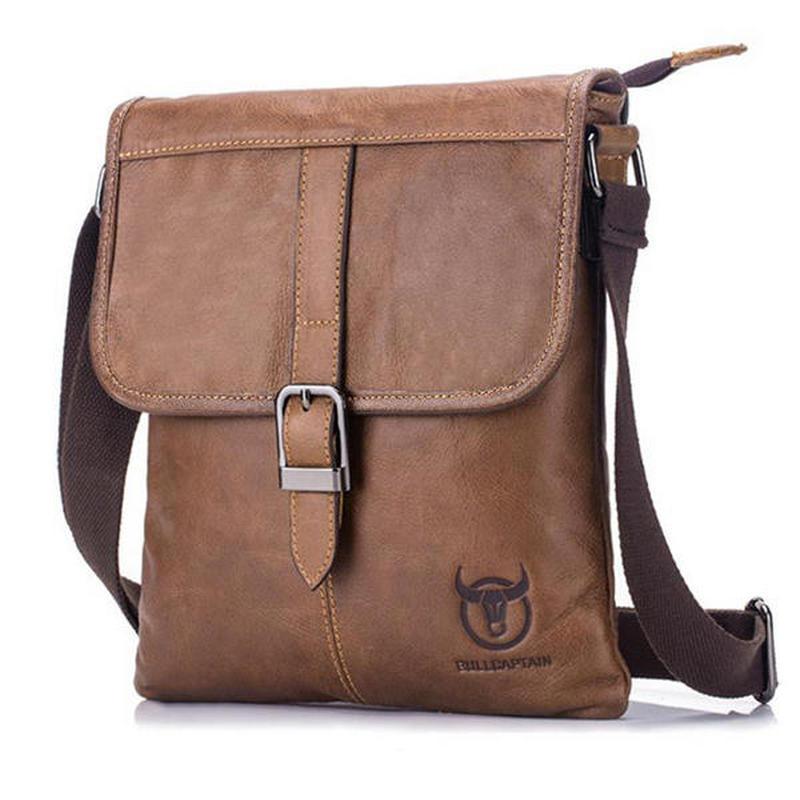 3ea156aed6 Bullcaptain 2018 FASHION Men Black Brown messenger Business Bag Casual Male  Shoulder Bag Sling Bag Genuine Leather Crossbody Bag