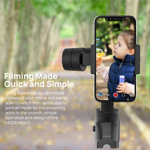 Image 4 - MOZA MINI S 3 stabilizator osi składany kieszonkowy ręczny Gimbal MINI S dla iPhone X xiaomi huawei GoPros postawy polityczne w MINI MI VIMBLE 2