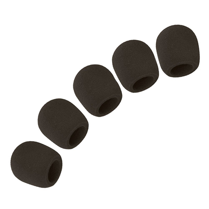 Microphone Ball Sponge Foam Cover (Set Of 5, Black)