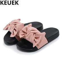 NEW Summer Children Shoes Girls Slides Princess Slippers Fashion Bowtie Flip Flops Casual Kids Sandals 044