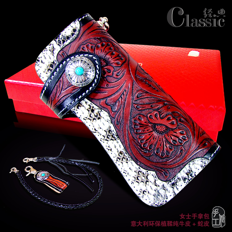 OLG.YAT handmade women wallets Arabesque handbags Vegetable tanned leather wallet long hasp bag womens cowhide & snakeskin pure arabesque arabesque ix time to say goodbye deluxe edition