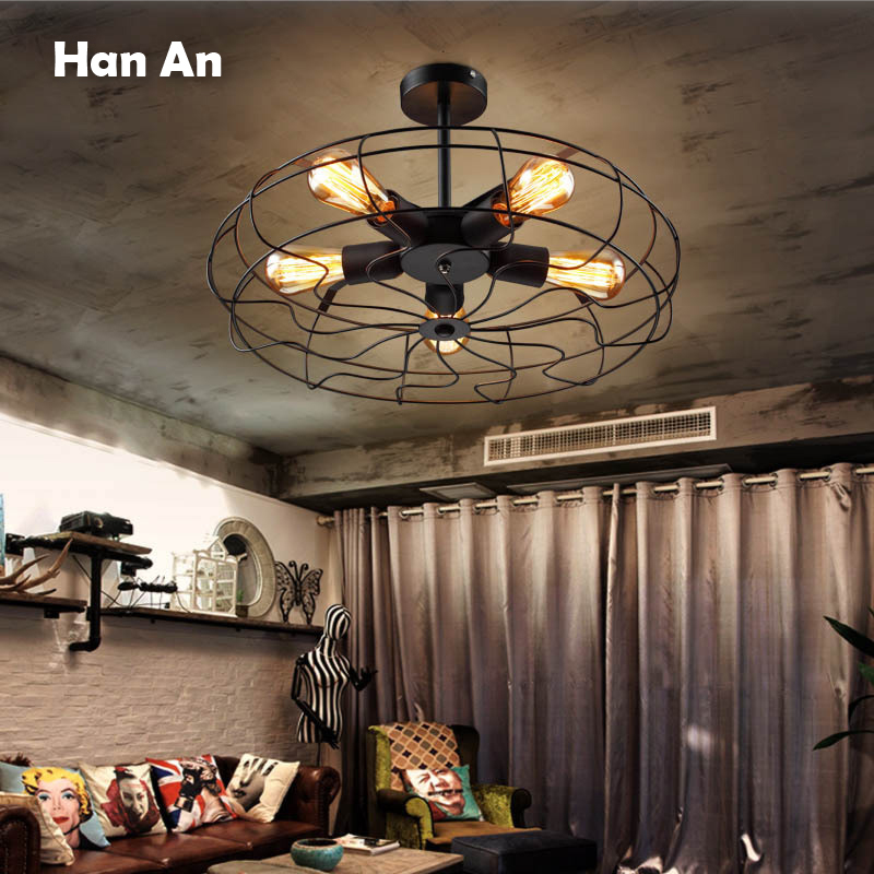 цена Pendant Lamps Industrial Creative Cafe Restaurant Wrought Iron Droplight E27 Bulb Lamps Wrought Iron Chandelier