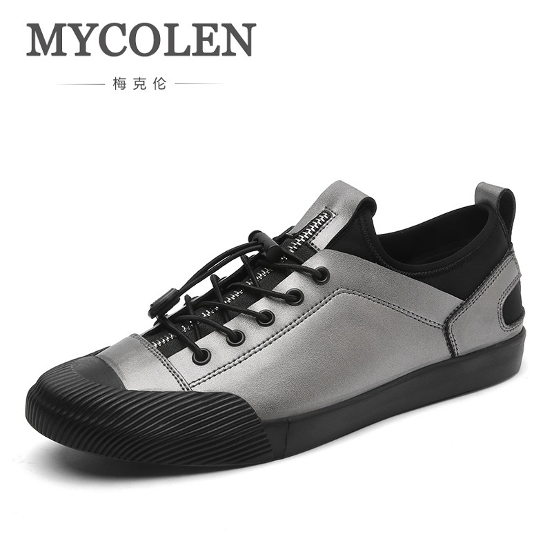 MYCOLEN 2018 Spring Autumn Casual Soft Flat Walking Shoes Spring Fashion Breathable Lace-Up Loafer Shoes For Men Sepatu Pria spring autumn casual men s shoes fashion breathable white shoes men flat youth trendy sneakers